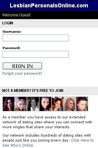Lesbian Personals Online