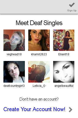 free dating sites for the deaf Dating for deaf will connect you with 1000s of available and attractive deaf singles, and all you have to do is sign up, make a profile - and meet singles instantly  join for free and search through thousands of profiles.