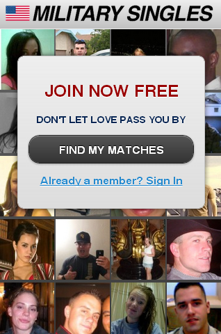 Military singles website
