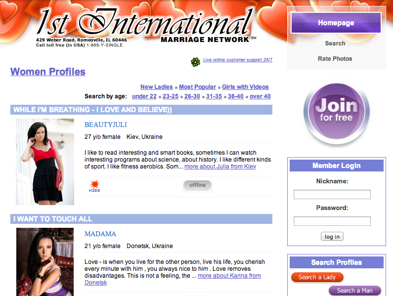 International matchmaking sites