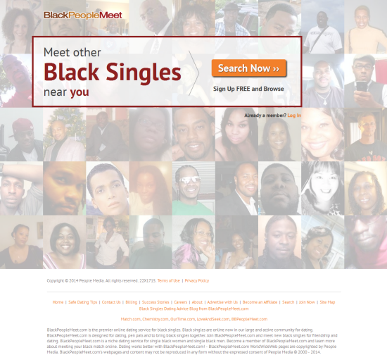 black people meet dating site advertisements Where white people meet is outrage bait dressed as a dating site  the primary  audiences for dating websites like black people meet or jdate — which  in a  section advertising its active users, only 11 were present when i.