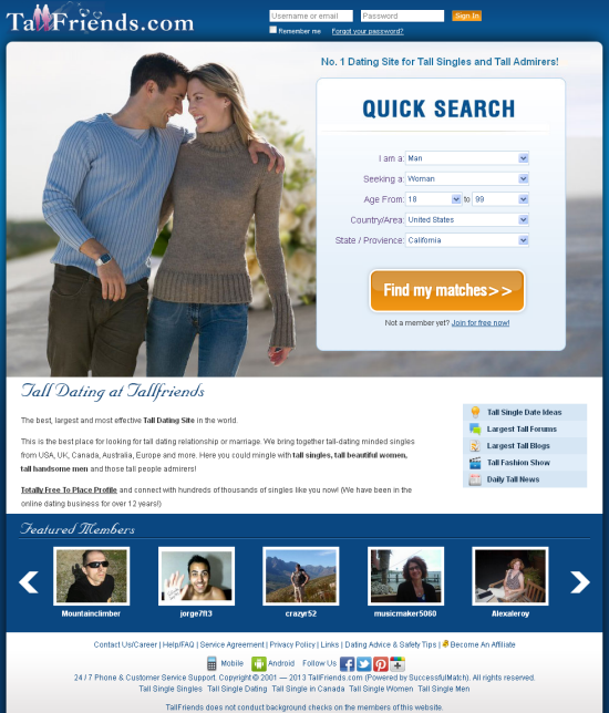 tall dating site reviews