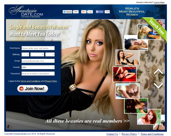 What is anastasia dating site