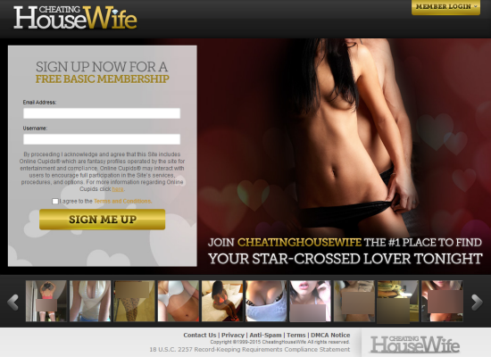 cheating housewife dating site
