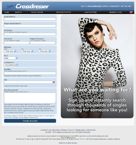 Cross dressing story site