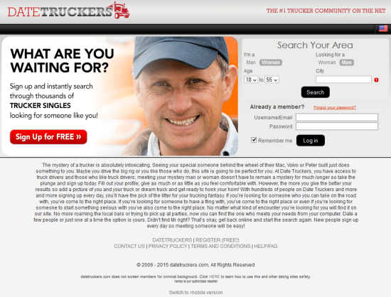 truckers dating sites The free truckers dating site meet single truckers in your local area at truckerfriendsdatecom, the free dating site for single truckers music, dances, traveling, whatever you passions, trucker friends date is the ultimate singles community for truckers best of all, you pay nothing at the trucker friends dating site because it is.
