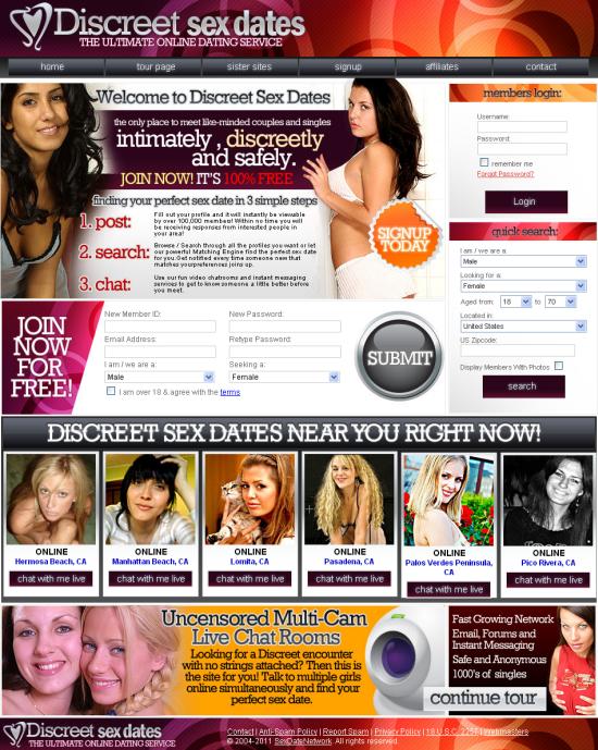 discreet sex dates