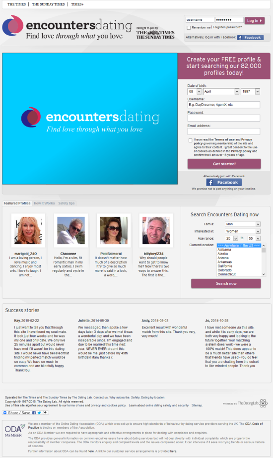 encounters dating site search