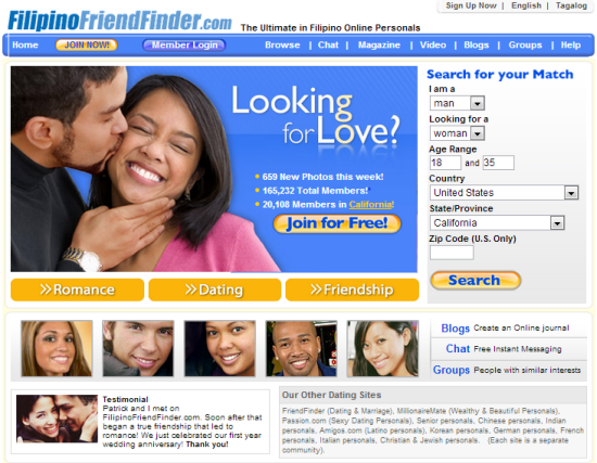 filipino friends finder