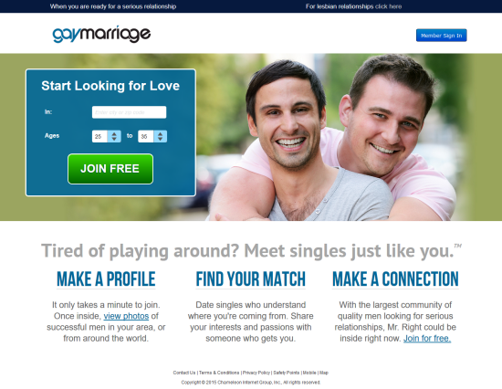 gay marriage dating site