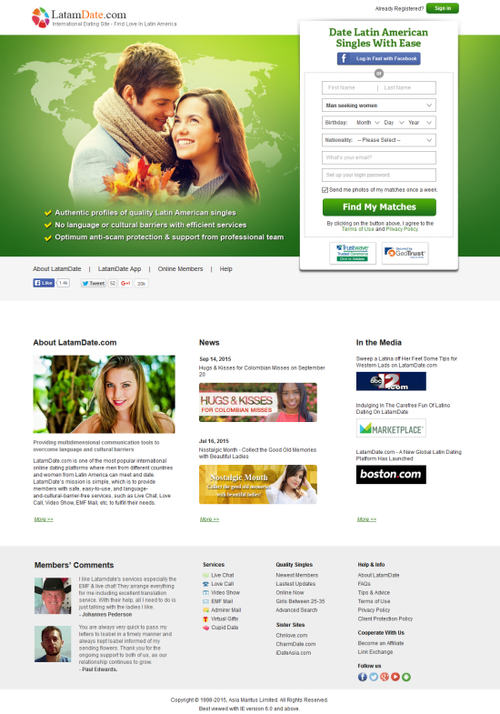 Free dating sites 2015
