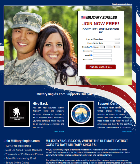 military dating free sites