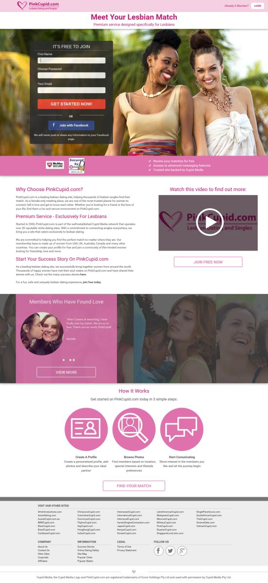 Pinkcupid mobile app