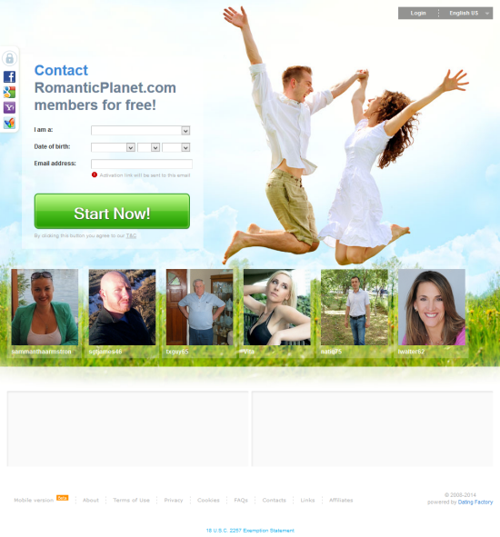 Planet dating site