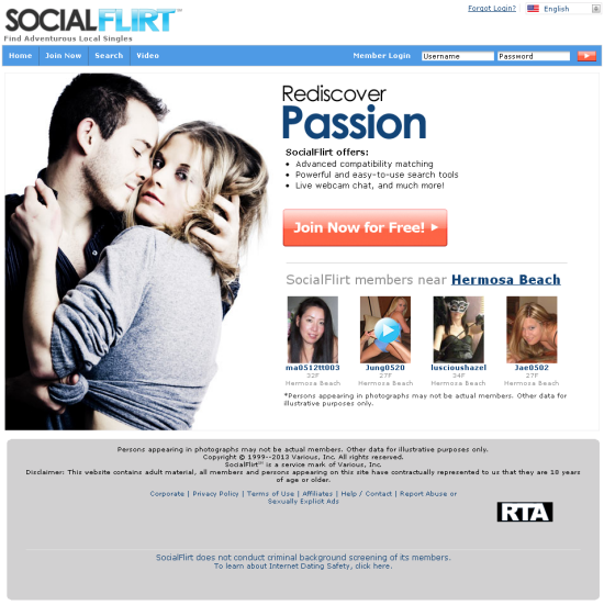 Flirt with dating site