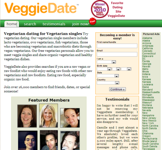 Veggie dating websites